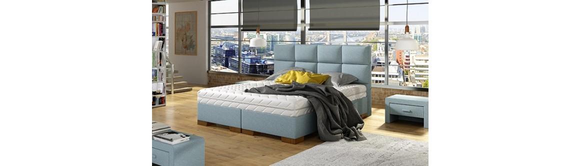 Łóżka Box Multisystem M&K Foam Koło
